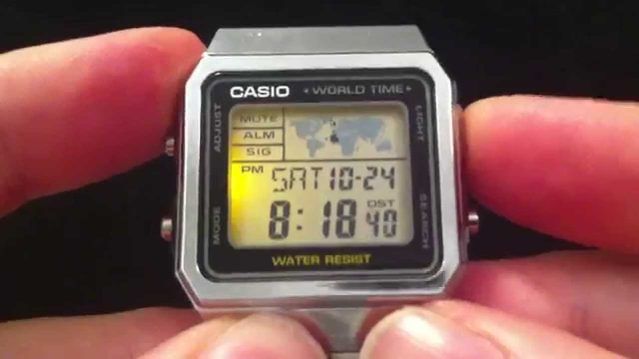 Casio a500w world time youtube casio a500w world time gumiabroncs Images