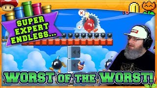 WORST OF THE WORST! |  Mario Maker 2 Super Expert No Skip Endless Challenge with Oshikorosu! [15]