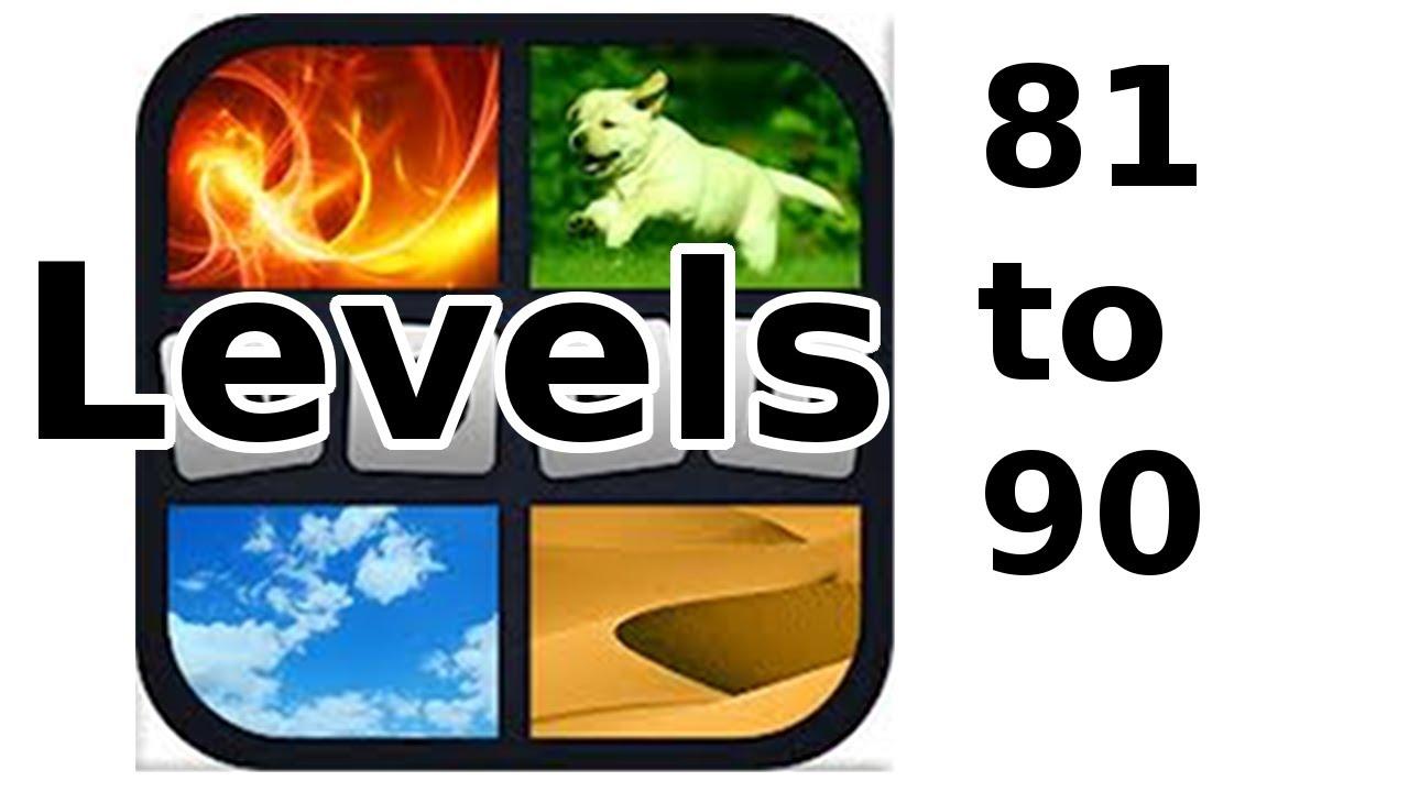 4 Pics 1 Word Level 81 To 90 Walkthrough Youtube