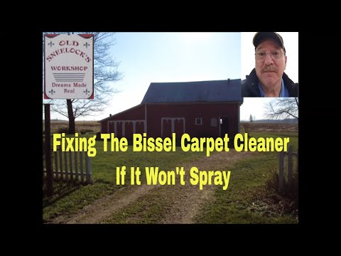 Bissell Carpet Cleaner Won T Spray Easy Repair Funnydog Tv