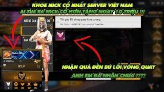 Gambar cover Garena Free Fire  Nhận quà đền bù lỗi vòng quay - Tranh thủ khoe cái nick cổ nhất Việt Nam!
