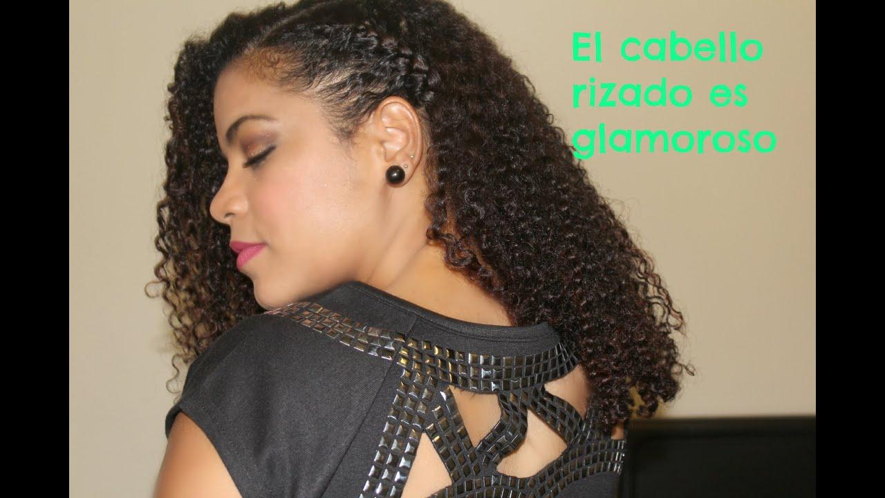 Acogedor peinados pelo ondulado Colección De Tutoriales De Color De Pelo - PEINADO PARA EL CABELLO RIZADO, side updo. - YouTube