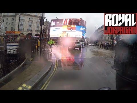 Honda MSX 125 / Grom rain ride in Central London