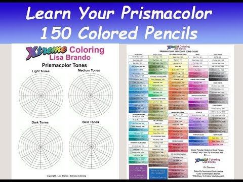 image regarding Printable Prismacolor Color Chart named Very simple: Master Your Prismacolor 150 Coloured Pencil Preset With Worksheets For Tones And Much more Lisa Brando