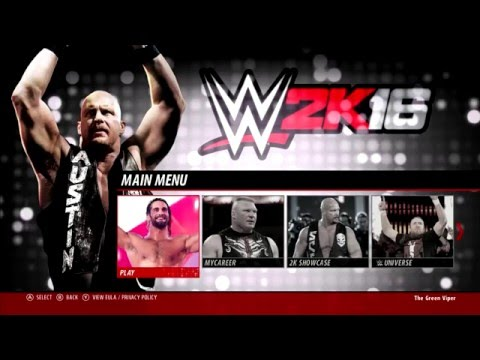 WWE 2K16 PC All match types + Menu + Roster Ratings including DLC Roster and Arenas!!