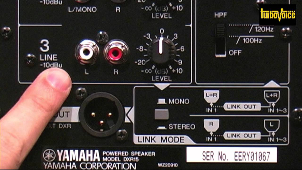 Yamaha DXR15 Support and Manuals