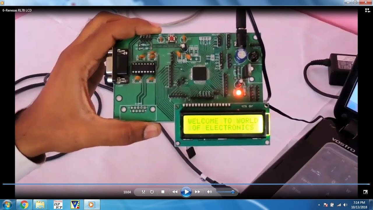 #6 RENESAS RL78, 16bit, 64pin Microcontroller Interfacing with 16x2 LCD  using Cube Suite+ IDE