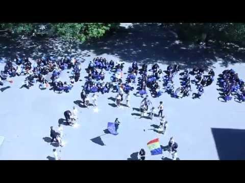 """Flashmob la LTPA """"Mihail Berezovschi"""" dedicat zilei Europei"""