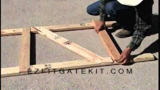 E-z Fit Gate Kit Two Rail Demo Assembly