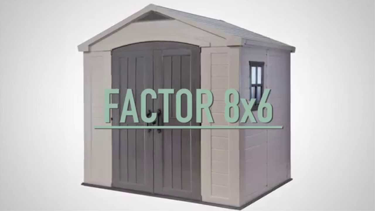 Factor 8x6 Plastic Sheds Keter Youtube