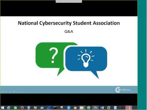 National Cybersecurity Student Association – Chapter Development Webinar