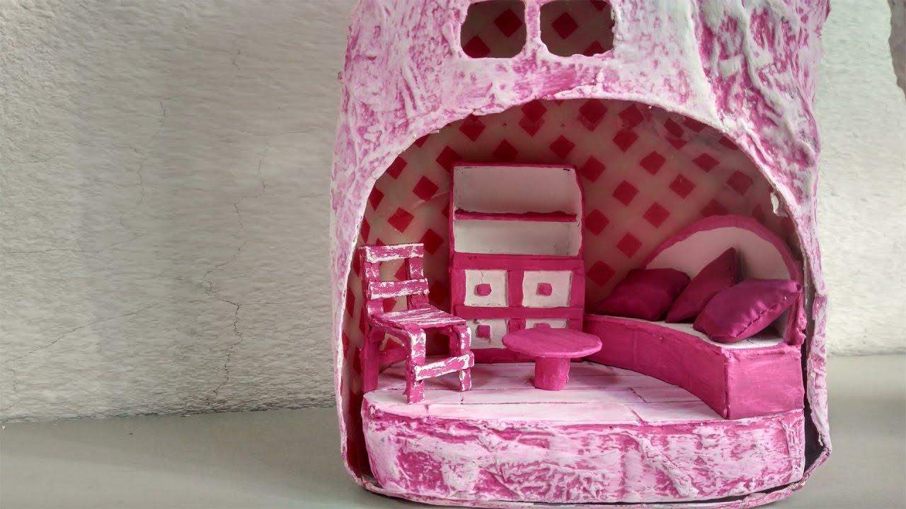 Muebles para casa de mu ecas miniaturas youtube for Muebles casa de munecas