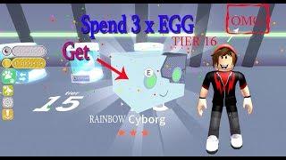 OMG ! Boboiboy SPEND 3 X get RAINBOW CYBORG PET SIMULATOR Roblox