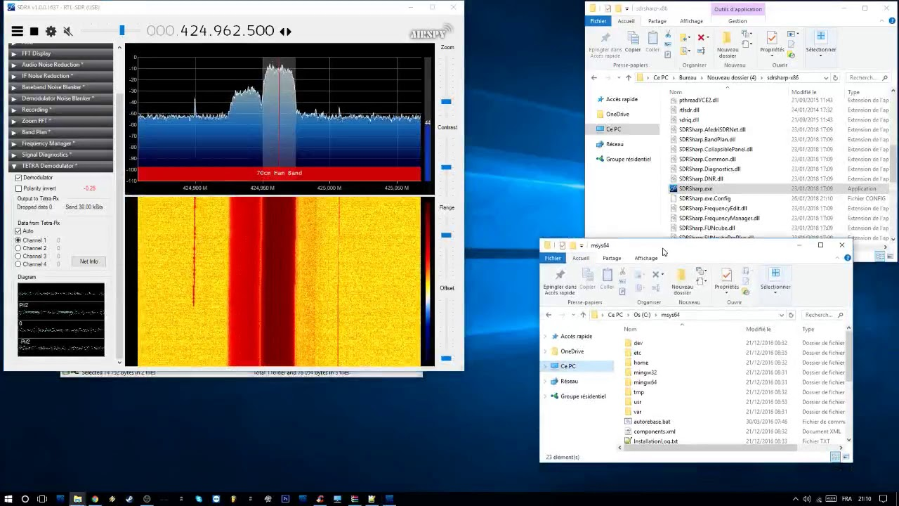 Installer TETRA Demodulator * SDR# (Windows * x64)