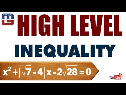 HIGH LEVEL INEQUALITY| MATHS | SBI PO 2017