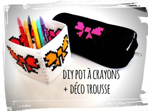 diy back to school trousse et pot crayons youtube. Black Bedroom Furniture Sets. Home Design Ideas