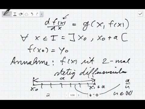 Die Numerische Integration Mit Dem Euler Verfahren Numerik Youtube