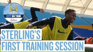 Raheem Takes To The Pitch | Sterling's First Training Session | City On Tour 2015