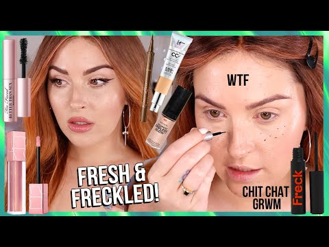 glowing natural *SPRING VIBES* skin 🔥 playing with FRECKLES! full face ccgrwm! thumbnail