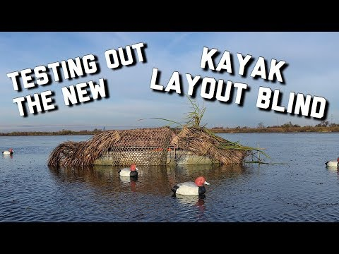 PUBLIC LAND Duck Hunting | Trying out the new Kayak Boat Blind