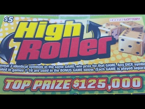 Indiana Lottery Scratch Off HIGH ROLLER Big Win Live Reaction Gambling