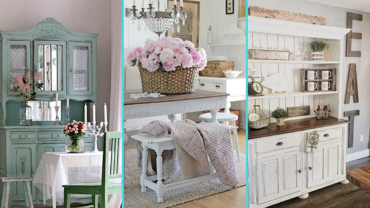 diy shabby chic style dinning room decor ideas home On kleinmobel shabby chic