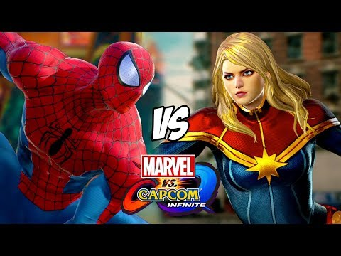 Spider-Man VS Captain Marvel Marvel vs Capcom Infinite Gameplay - 동영상