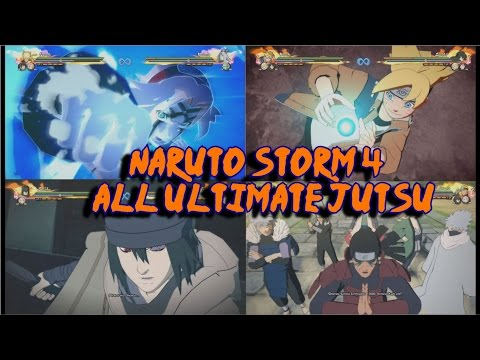 Naruto Storm 4: All Ultimate Jutsu / Secret Techniques (Inc DLC & Boruto) English