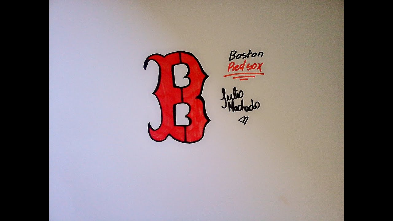How To Draw Boston Red Sox Logo Youtube