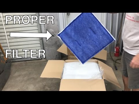 Homemade Spray Paint Booth Part 4 - Intake Exhaust Filters