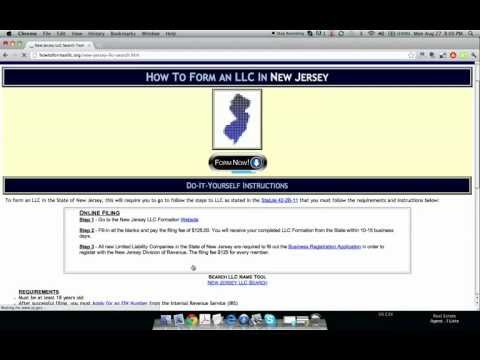 How to Form an LLC in New Jersey