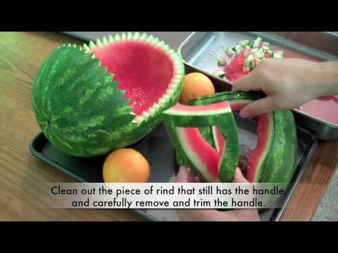 How To Carve A Watermelon Baby Carriage - YouTube