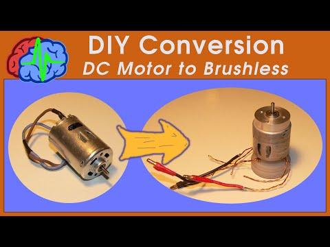 How to DIY Conversion Brushed motor to Brushless motor