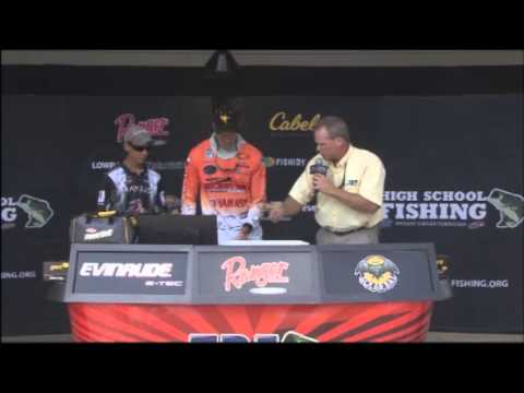 High School Fishing World Finals Lake Dardanelle 2014 day 1
