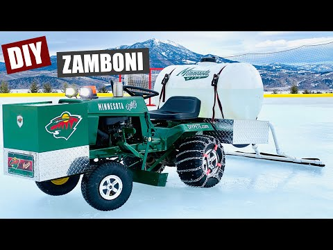 DIY Backyard Ice Resurfacer | DIY Zamboni Project
