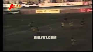 هدف فوز الأهلي 1 مقابل 0 المقاولون العرب لطاهر أبو زيد الأسبوع الرابع عشر 6 فبراير 1987