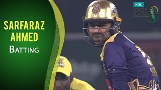 PSL 2017 Final Match: Quetta Gladiators vs. Peshawar Zalmi - Sarfaraz Ahmed Batting