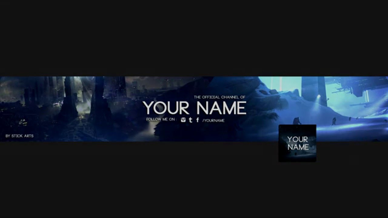 Free Battlefront Youtube Banner Template With Logo 2015