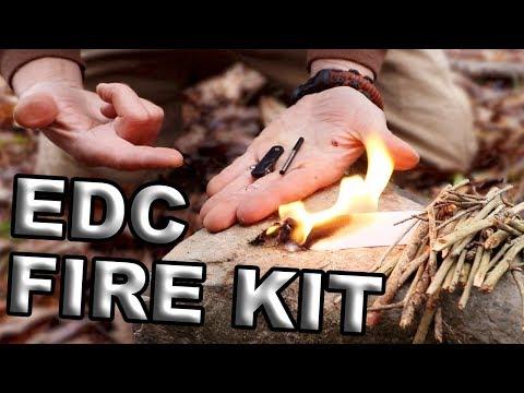 Wazoo Ceramic knife / Fire Starter & SURE STRIPS Military Tinder (Best Micro EDC)