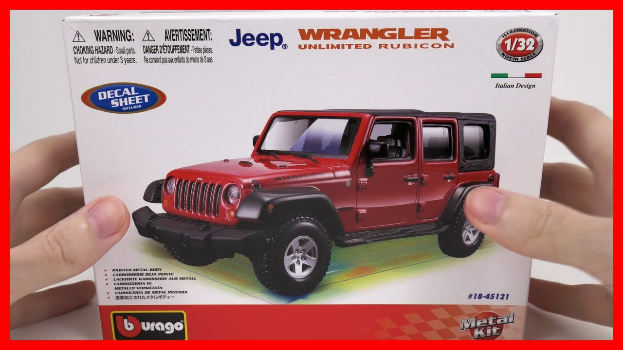 Car Jeep Wrangler Unlimited Rubicon Toy Car For Kids Bburago
