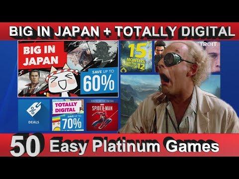 PS4 EU Big in Japan + Totally Digital Sale - 50 Easy Platinum Games  - Until 10/05/2018