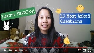Learn Tagalog Most Asked Questions