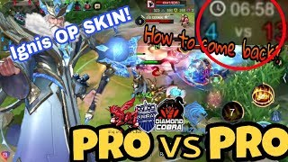 """PRO vs PRO! New skin bug?  """"unknown Ignis"""" come back game!"""