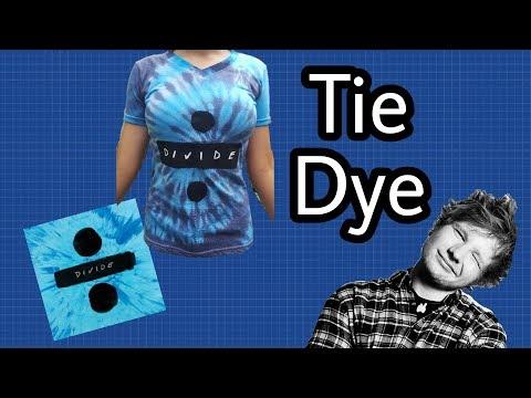 ED SHEERAN TIE DYE T-SHIRT