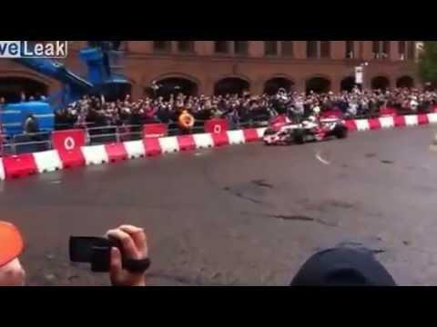 Woman be afraid of F1 car