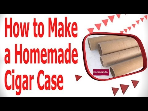 How To Make a Homemade Cigar Case Using a Paper Towel Roll.