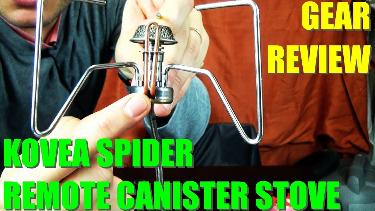 Kovea Spider Remote Canister Stove - YouTube