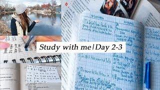 Study vlog|Study with me 2-3|Продуктивность|Мотивация|Study