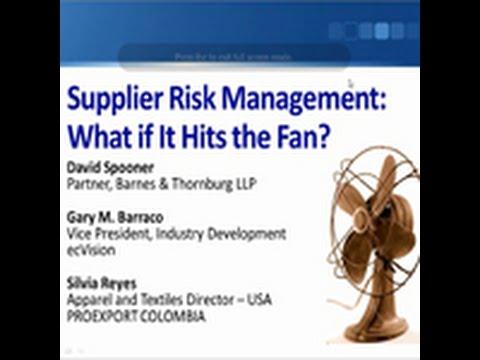 USFIA Webinar Supplier Risk Management