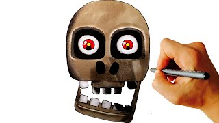 How to draw Mad Endo Boss from FNaF World step by step drawing